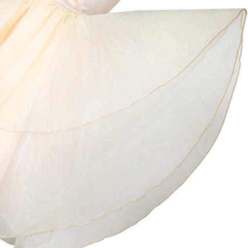 Filles Fleur Robe Strass Tulle Taille De Demoiselle D'honneur De Reconstitution Historique De Mariage 5-12 Ans Blanchies Amande