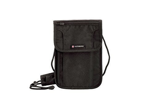 Victorinox Deluxe Concealed Security Pouch with RFID Protection, Black, One Size (Victorinox Business Card Holder)