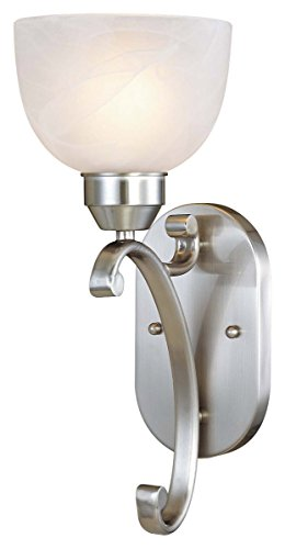Minka Lavery 5420-84 Paradox 1 Light Bath Bar, Brushed Nickel Finish 84 Paradox Bath Lighting