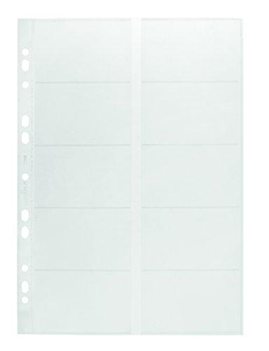 Durable 238919 Visitenkartenhüllen A4 (für 2384/2388) Beutel mit 10 Stück transparent