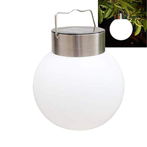 Luwint LED Hanging Solar Lights Outdoor - Night Lamp Globe Lantern for Garden Landscape Yard Pathway Patio Tree Decoration -