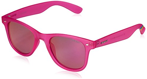 Polaroid Wayfarer lunettes de soleil Style en rose vif translucide PLD 6009/N M IMS 50 Pink Mirror