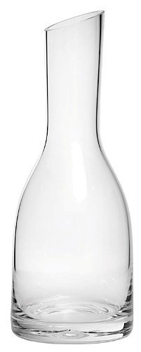 16 Ounce Clear Glass Verona Straight-Neck Carafe with Slanted Top - Verona Wine Bar