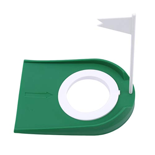 KISSFRIDAY Golf Practice Putting Cup Mat with Hole and Flag Plastic Office Garage Yard (Golf Plastic Putting Cup)