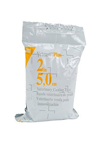 3M Vetcast Plus Casting Tape for Dogs, Cats and Horses, 2-Inch by 4-Yard, Box/10-Roll by 3M