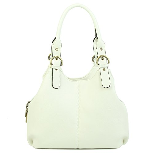 Shoulder Tote Pocket Bag Handle Women's Multi White Top Bag qxg5wzEYw