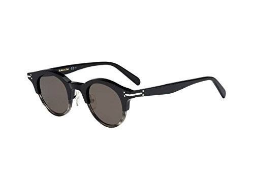 Céline - JULIA CL 41395/S, Round, acetate, women, BLACK HAVANA SHADED/BROWN(T73/70), 45/25/145 by Céline