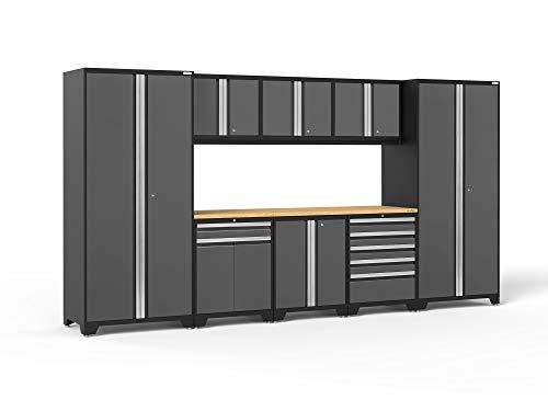 NewAge Products Pro 3.0 Gray 9 Piece Set, Garage Cabinets, 52066