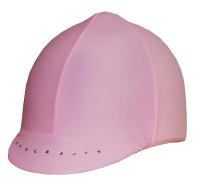 Equestrian Riding Helmet Cover - Pastel Pink with Swarovski Crystals