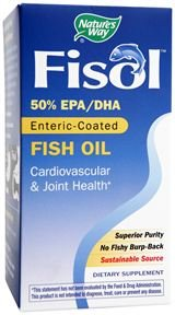 Enteric Fisol Coated Oil Fish (Nature's Way - Super Fisol, Enteric-Coated Fish Oil, 90 Softgels)