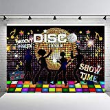 (COMOPHOTO Disco Party Backdrop Neon Adults Scene Setters Party Decoration Birthday 7x5ft Event Banner Portrait Photo Studio)
