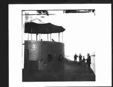 Photo Gun Turret of Civil War Iron Clad Ship