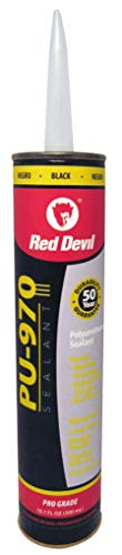 Red Devil 0971 Polyurethane Sealant, 10.1-Ounce Black