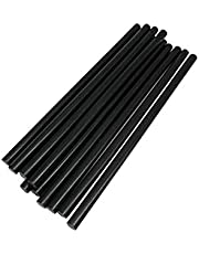 TrendBox Pack of Black 7mmx200mm - Hot Melt Glue Sticks Strips Melting Adhesive For Handmade Craft DIY Home Office Project Craftwork Fix & Repairs