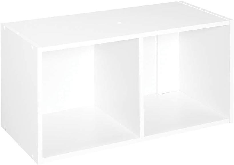 ClosetMaid 8947 Cubeicals Organizer, 2-Cube, White