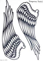 Spestyle new design hot selling fashionable large Angel wings temporary tattoo sticker for women