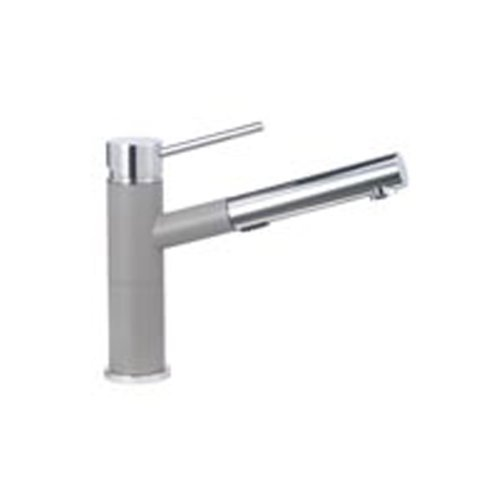 Alta Alta Kitchen Faucet - Blanco 441620 Alta Compact 1.8 GPM Kitchen Sink Faucet with Pull Out Spray and Truffle Body, Small, Chrome by Blanco