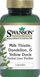 Le chardon-Marie, Pissenlit & Dock Jaune 120 Caps - Swanson Premium