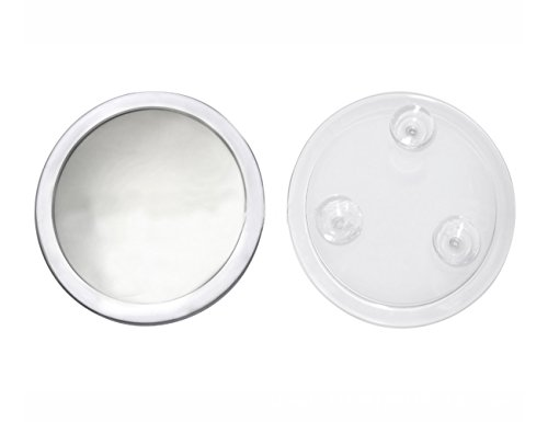EMILYSTORES 5X Magnifying Mirror with 3 Suction Cups Fixture 7 Inches Makeup Mirror