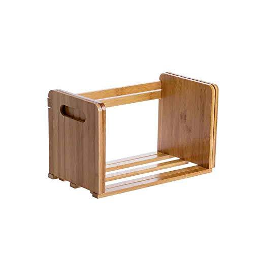 Retractil sujetalibros Estanteria de libros, creativo bambu Magzine de almacenamiento libro estantes, titular de la olla de Plantas Oficina Organizador de escritorio, for la cocina casera Isla Bathroo