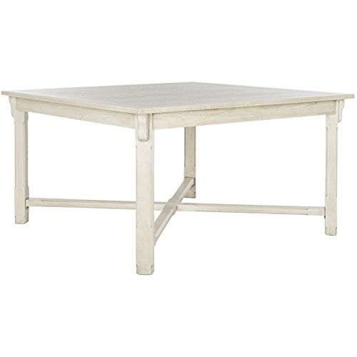 Dining Table Wash Wood (Safavieh American Home Collection Bleeker White Wash Dining Table)
