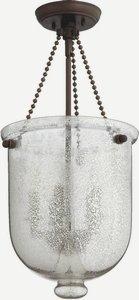 Quorum Lighting 6720-5-86, Entry Bowl Pendant, 5LT, 100 Watts, Oiled Bronze w/ Silver (Oiled Bronze Entry)