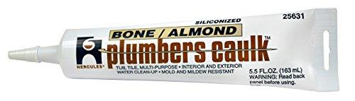 Oatey 25631 Hercules 5.5-Ounce Almond Tube Plumber's (Plumber Caulk)