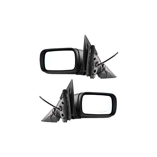Power Mirror compatible with BMW 3-Series 99-06 Right and Left Side Manual Folding Heated Sedan/Wagon Paintable Bmw 325i Mirror Folding