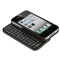 Monoprice Bluetooth Pocket Keyboard Case for iPhone 4/4S - Black (Bluetooth Iphone 4s Keyboard)