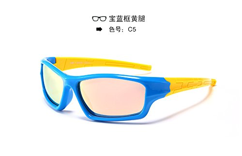 Baianf Deporte Fuera de conducción bebé niños Sun UV400 Gafas de Moda Gafas de Sol polarizadas Niños Gafas de Revestimiento de Seguridad (Color : C9): ...