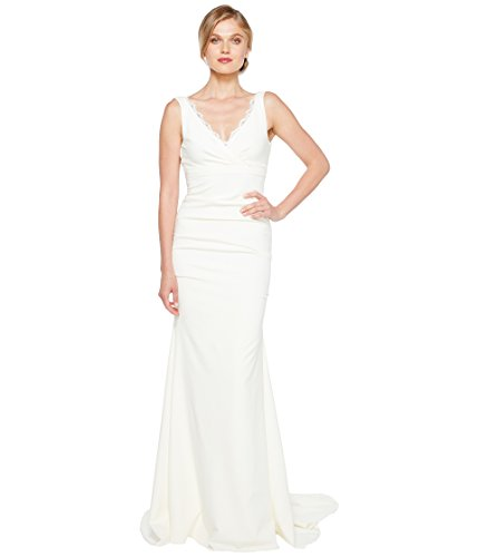 Miller Nicole Dress Silk (Nicole Miller Women's Nina Bridal Gown Ivory 2)