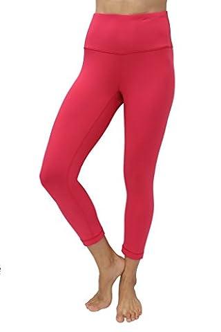 90 Degree By Reflex – High Waist Tummy Control Shapewear – Power Flex Capri-Raspberry Jam-L