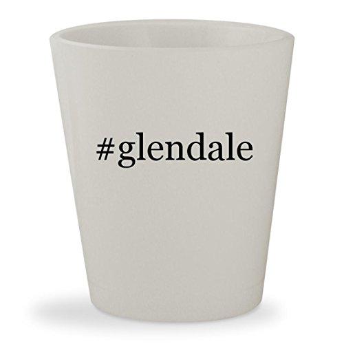 #glendale - White Hashtag Ceramic 1.5oz Shot Glass