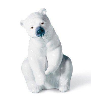 RESTING POLAR BEAR Lladro Porcelain