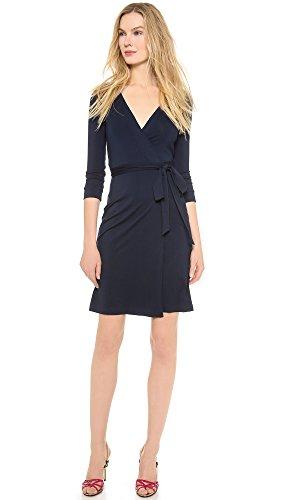 Diane von Furstenberg Women's New Julian Two Wrap Dress, Midnight, 6