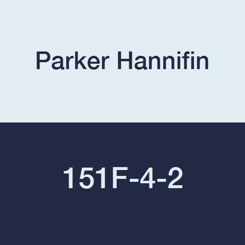 Parker Hannifin 151F-4-2 Brass Male Run Tee, 45 Degree Flare Fitting, 1/4