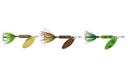 (Yakima Bait Rooster Tail (3 Pack), Frog/Frog Spring/Frog Bleeding, 1/4 oz)
