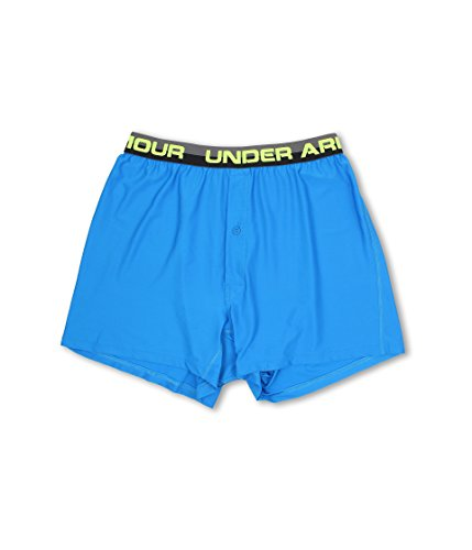(Under Armour Men's Original Series Boxer, Blue Jet/Graphite/High-Vis Yellow,)