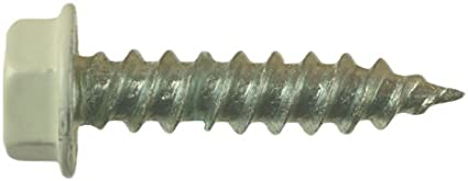 AP Products 012-TR50 BR 8 X 1 Brown Hex Washer Head Screw Pack of 50