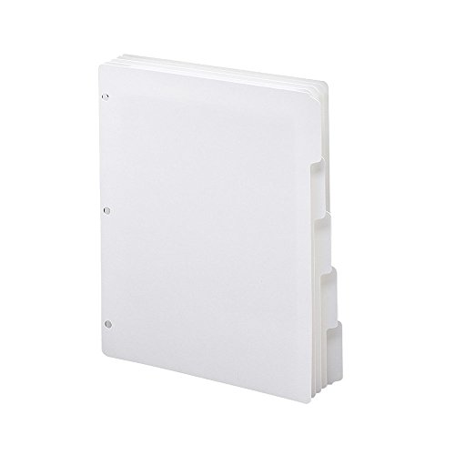 Smead Three-Ring Binder Index Dividers, 1/5-Cut Tabs, Letter Size, White, 5 per Set, 20 Sets per Box (89415) (100 DIVIDERS)