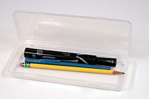 Creative Hobbies Clear Polypropylene Mini Storage Box with Hinged Lid & Snap Closure -For Pencils, Pens, Drill Bits, Office Supplies, Organization, Tool Box and more! by Creative Hobbies (Image #1)