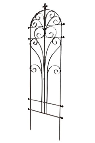 H Potter Italian Iron Garden Plant Trellis Metal Weather Resistant Wall Decor -