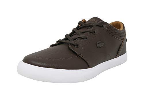 (Lacoste Men's Bayliss Vulc PRM Fashion Sneaker, Dark Brown, 10.5 M)