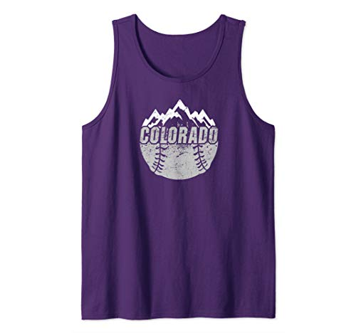 Colorado Baseball Rocky Mountains Design Tank - Classic Rockies Colorado Shirt