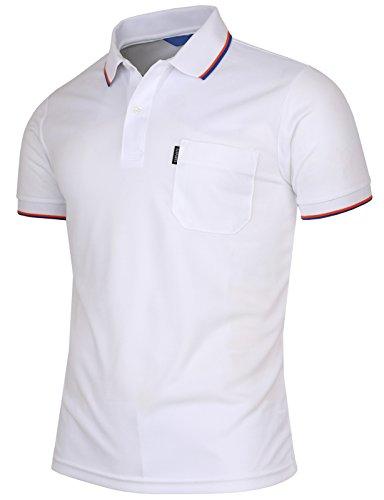 BCPOLO Men's Polo Shirt Dir Fit Solid Polo Shirt Short Sleeve Various Polo