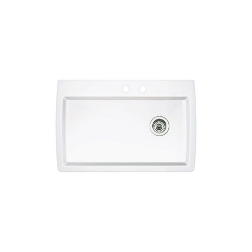 - Blanco 511-651 Diamond Super Single Bowl Kitchen Sink, White Finish