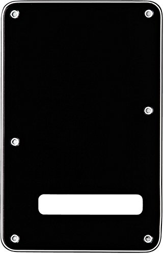 Fender Modern Backplate, Stratocaster - Black (Fender Jazz Guitar Picks)