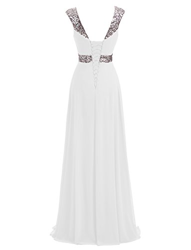 Chiffon Weiß Formal Brautjungfernkleider Abendkleid Lange Erosebridal qHvO5AnY5