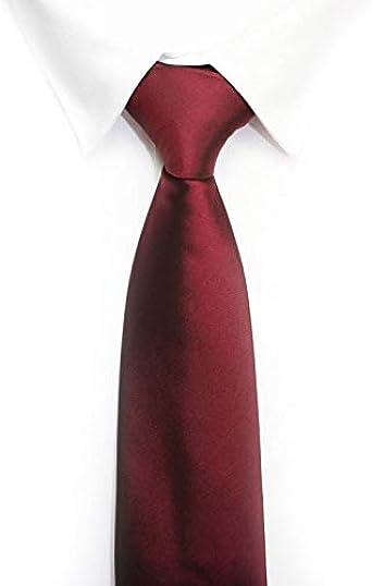 Corbata burdeos lisa: Amazon.es: Ropa y accesorios