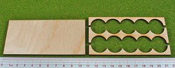 Rank Tray, 5x2, 20mm circle bases by Litko Game Accessories (Image #1)